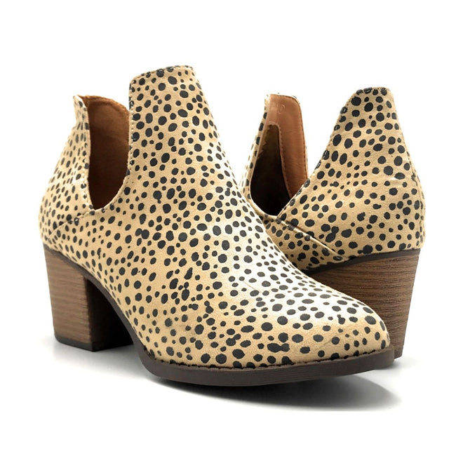 Mata Shoes Valentina-4 Cheetah Color Heels Both Shoes together, Women Shoes
