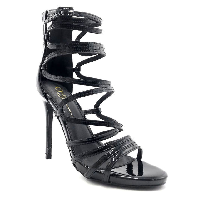 Olivia Jaymes Aries Black Color Heels Right Side View, Women Shoes