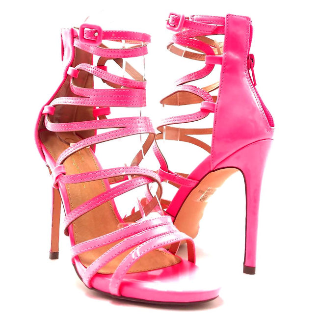 Olivia Jaymes Aries Pink Color Heels Both Shoes together, Women Shoes