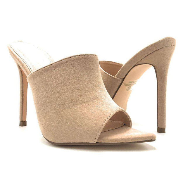 Olivia Jaymes Arrow Camel Color Heels Shoes for Women