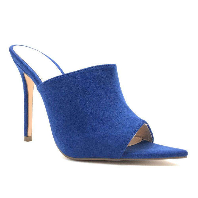 Olivia Jaymes Arrow Royal Blue Color Heels Shoes for Women