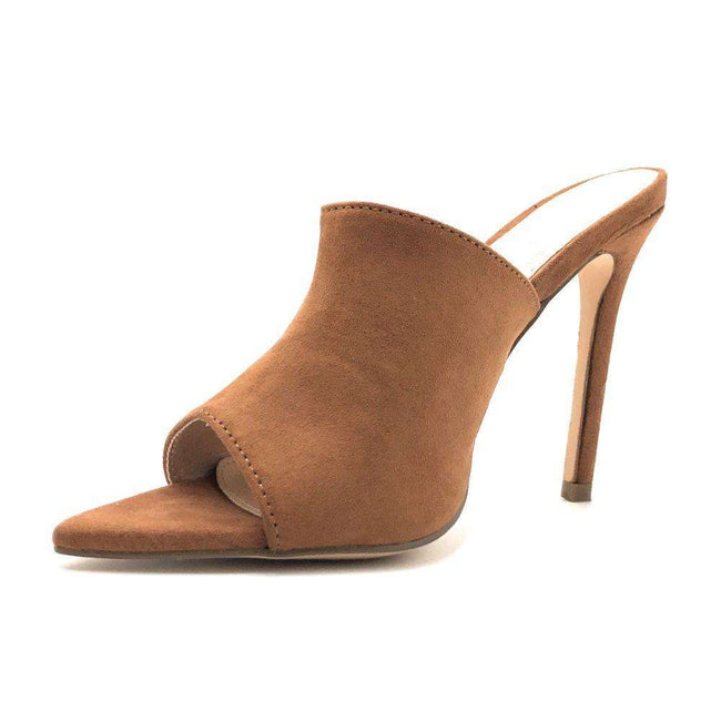Olivia Jaymes Arrow Tan Color Heels Shoes for Women
