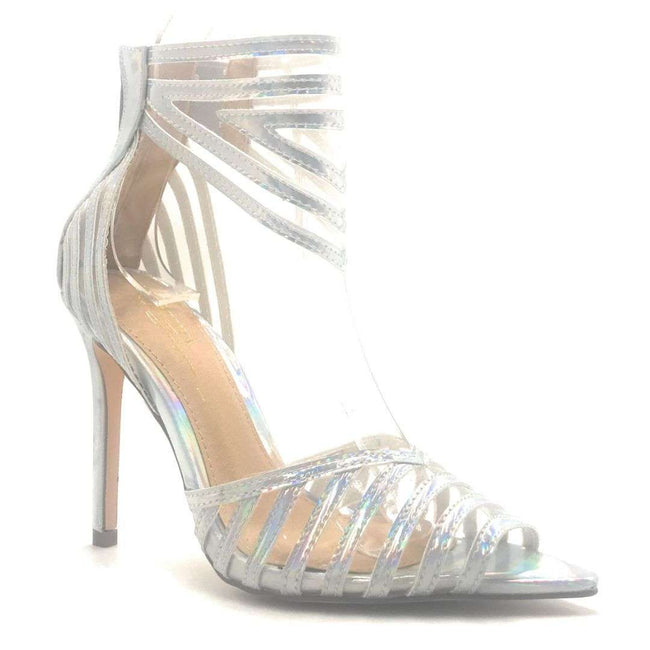 Olivia Jaymes Ashton Hologram Color Heels Shoes for Women