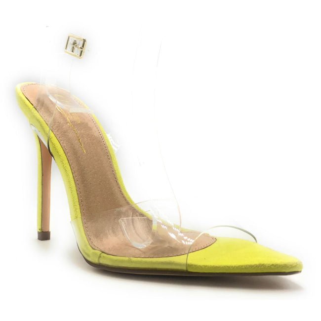 Olivia Jaymes Avery Lime Color Heels Shoes for Women