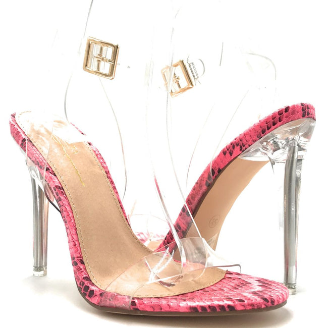 Olivia Jaymes Bibi N Fuchsia Color Heels Shoes for Women