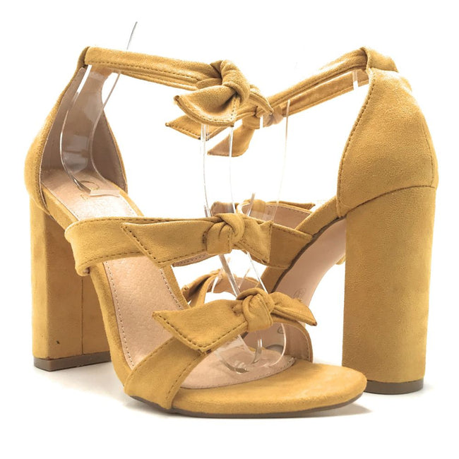 Olivia Jaymes Bliss Mustard Color Heels Shoes for Women