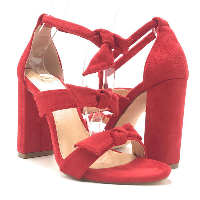 Olivia Jaymes Bliss Red Color Heels Shoes for Women