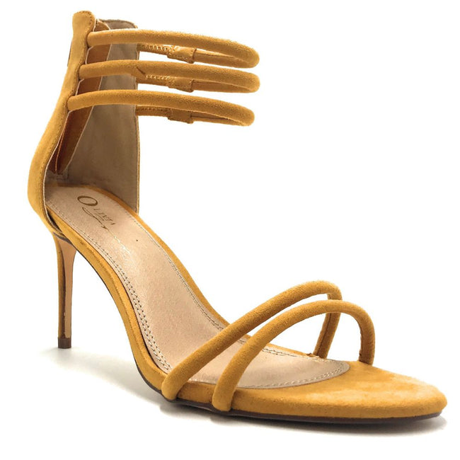 Olivia Jaymes Brea Mustard Color Heels Shoes for Women