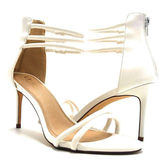 Olivia Jaymes Brea White Color Heels Shoes for Women