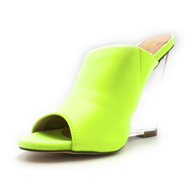 Olivia Jaymes Cali N.Yellow Lycra Color Wedge Shoes for Women