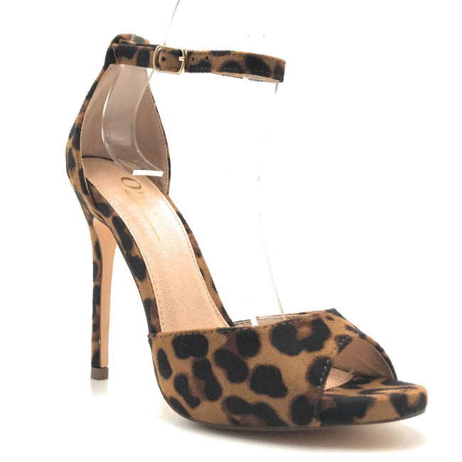 Olivia Jaymes Chloe Leopard Suede Color Heels Shoes for Women