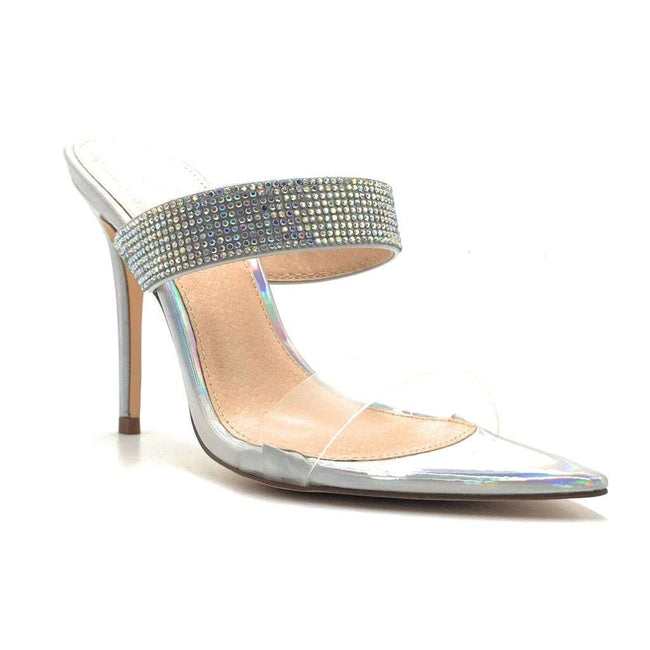 Olivia Jaymes Dali Hologram Color Heels Shoes for Women