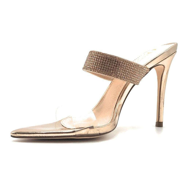 Olivia Jaymes Dali R. Gold Patent TPU Color Heels Shoes for Women