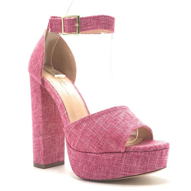 Olivia Jaymes Demy Pink Color Heels Shoes for Women
