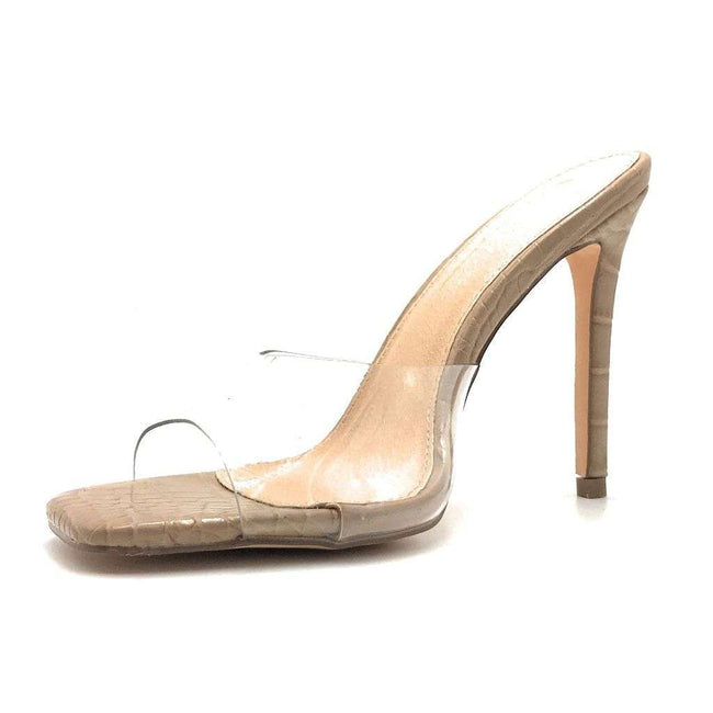 Olivia Jaymes Elia Nude Color Heels Shoes for Women