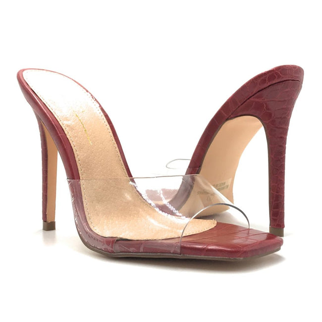 Olivia Jaymes Elia Red Color Heels Shoes for Women