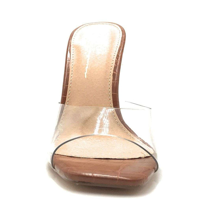 Olivia Jaymes Elia Tan Color Heels Shoes for Women