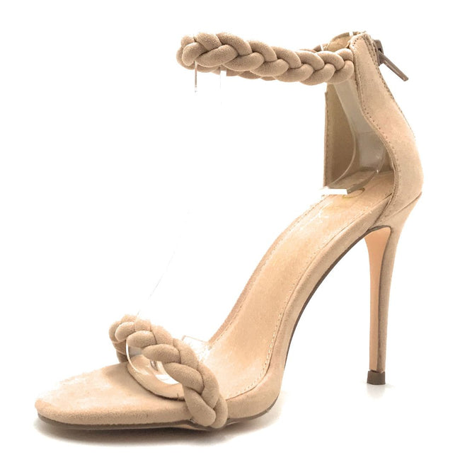 Olivia Jaymes Farah Camel Suede Color Heels Shoes for Women