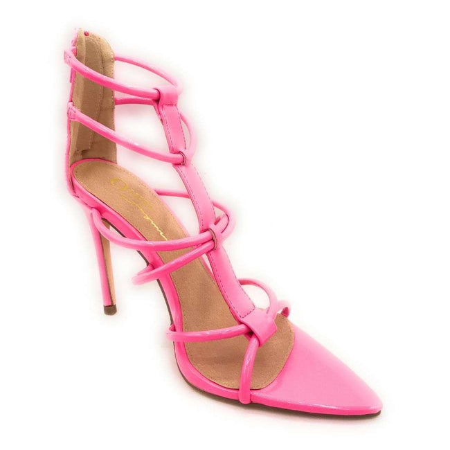 Olivia Jaymes Hope H.Pink Patent Color Heels Shoes for Women