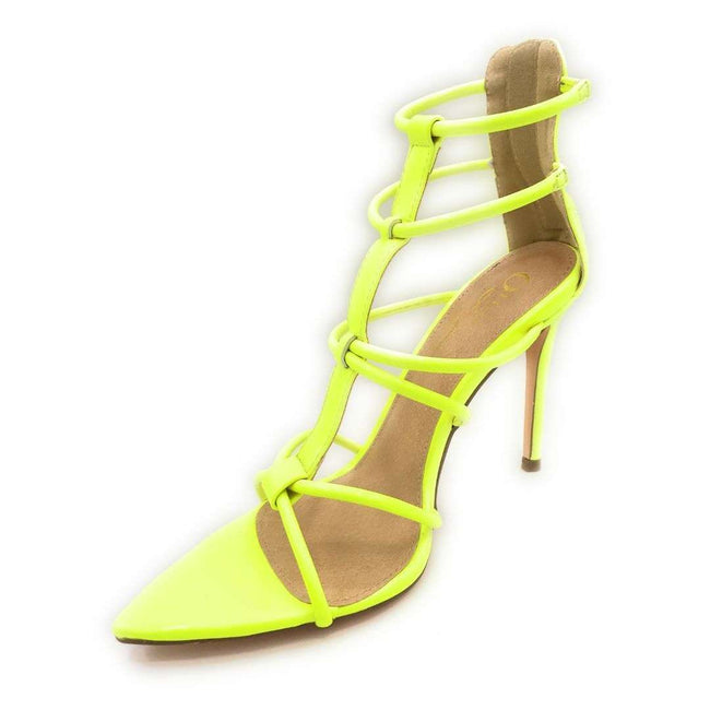 Olivia Jaymes Hope N.Yellow Patent Color Heels Shoes for Women