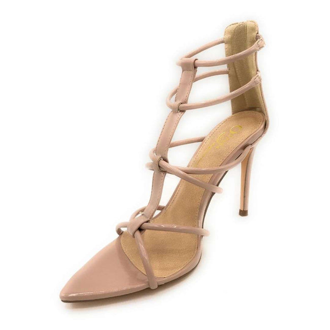 Olivia Jaymes Hope Nude Patent Color Heels Shoes for Women