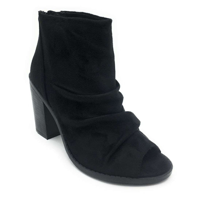 Olivia Jaymes Hush Black Suede Color Heels Shoes for Women