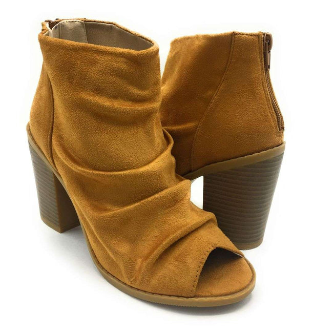 Olivia Jaymes Hush Tan Color Heels Shoes for Women