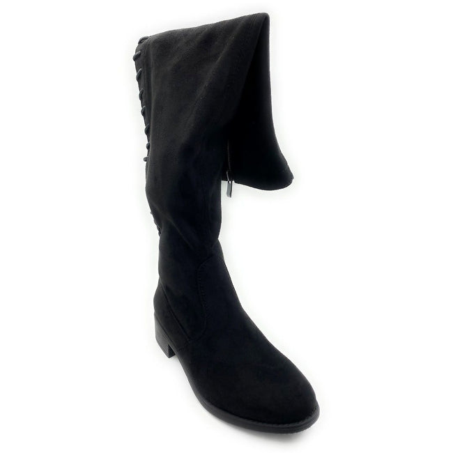 Olivia Jaymes Jones-55 Black Color Boots Right Side View, Women Shoes