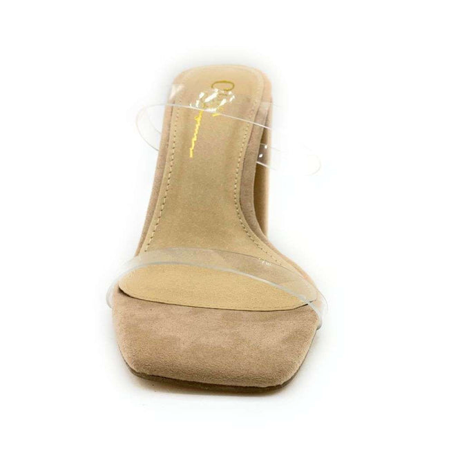 Olivia Jaymes Juicy Camel PVC Color Heels Shoes for Women