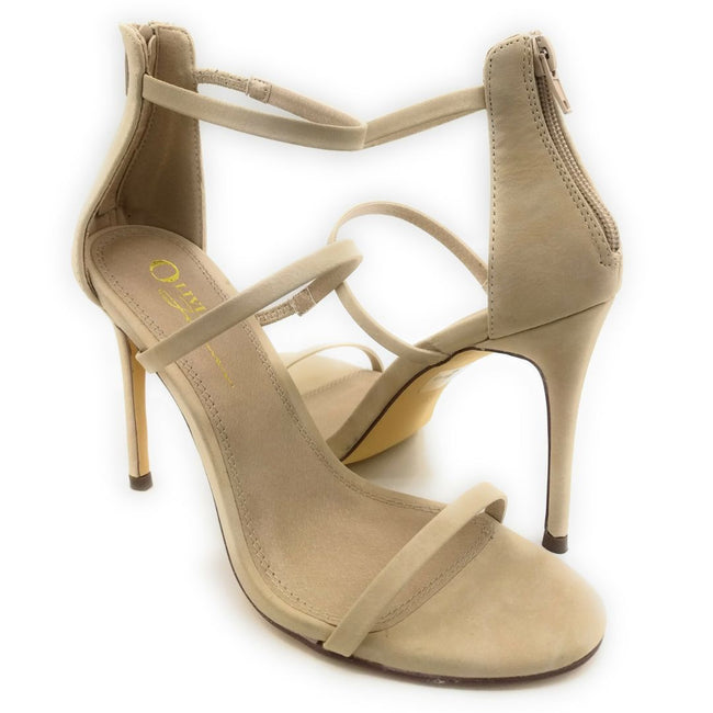 Olivia Jaymes Kaylee Nude Color Heels Shoes for Women