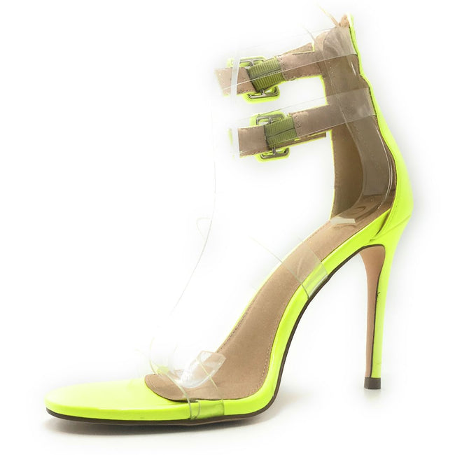 Olivia Jaymes Kazi N.Yellow Pat Color Heels Shoes for Women