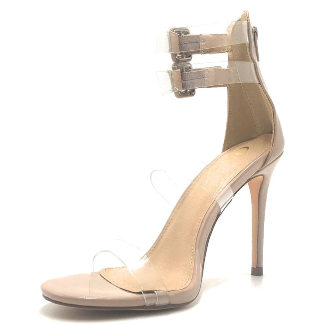 Olivia Jaymes Kazi Nude Color Heels Shoes for Women