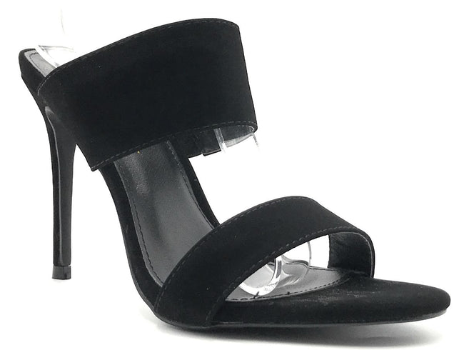 Olivia Jaymes Kings Black Color Heels Shoes for Women
