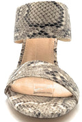 Olivia Jaymes Kings Brown Snake Color Heels Shoes for Women
