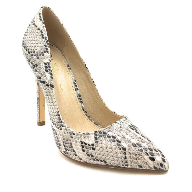 Olivia Jaymes Kylie Brown Snake Color Pumps Shoes for Women