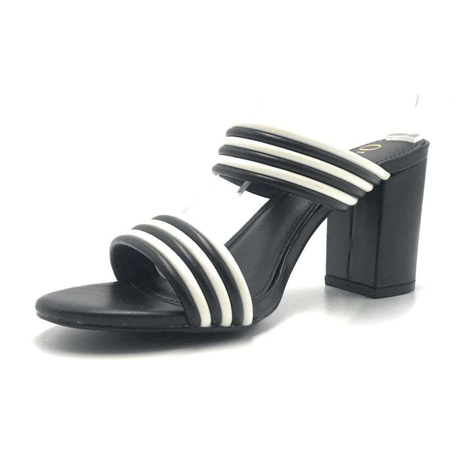 Olivia Jaymes Letty Black_White Color Heels Shoes for Women