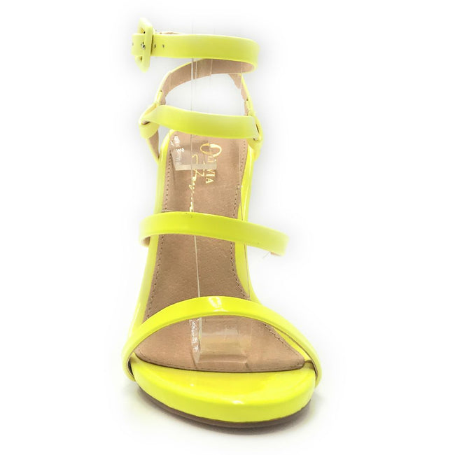 Olivia Jaymes London N.Yellow Pat Color Heels Shoes for Women