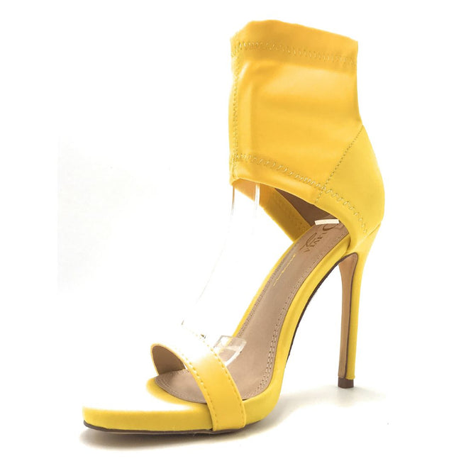 Olivia Jaymes Marley Yellow Color Heels Shoes for Women