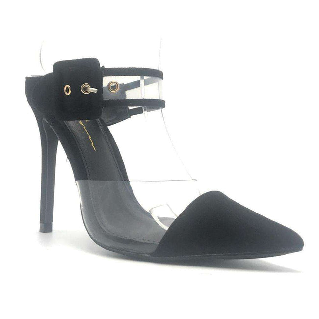 Olivia Jaymes Marlow Black Color Heels Shoes for Women
