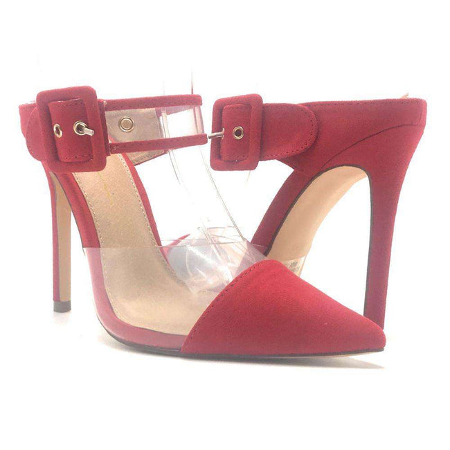 Olivia Jaymes Marlow Red Color Heels Shoes for Women