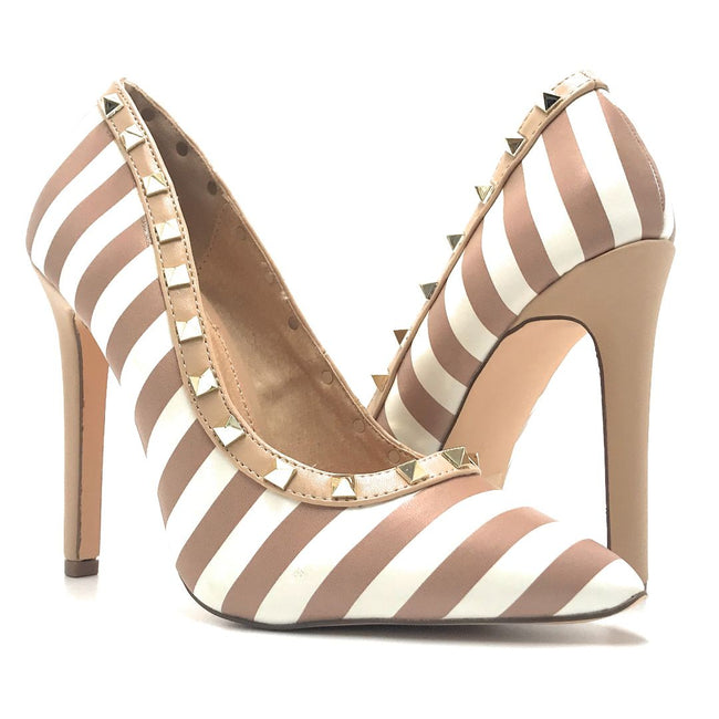 Olivia Jaymes Melany Nude-White Color Heels Shoes for Women