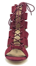 Olivia Jaymes Mista Wine Suede Color Heels Shoes for Women