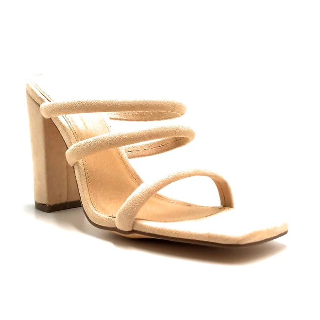 Olivia Jaymes Morgan Camel Suede Color Heels Right Side View, Women Shoes