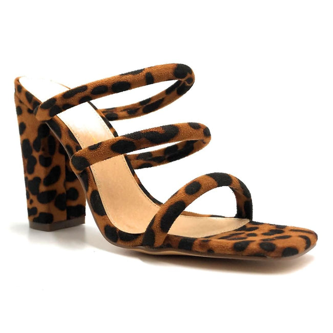 Olivia Jaymes Morgan Leopard Suede Color Heels Right Side View, Women Shoes