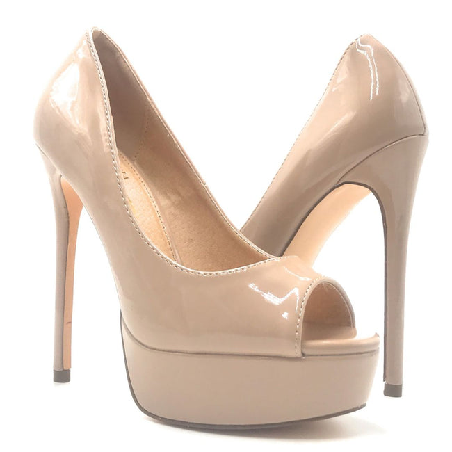 Olivia Jaymes Pearl Taupe Color Heels Shoes for Women