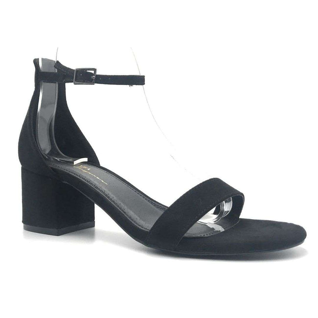Olivia Jaymes Ronnie Black Color Heels Shoes for Women