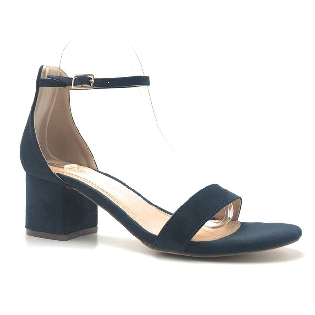 Olivia Jaymes Ronnie Navy Color Heels Shoes for Women