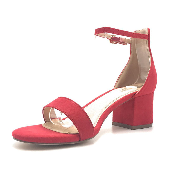 Olivia Jaymes Ronnie Red Color Heels Shoes for Women