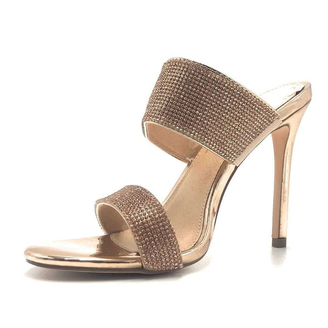 Olivia Jaymes Sally R.Gold Color Heels Shoes for Women