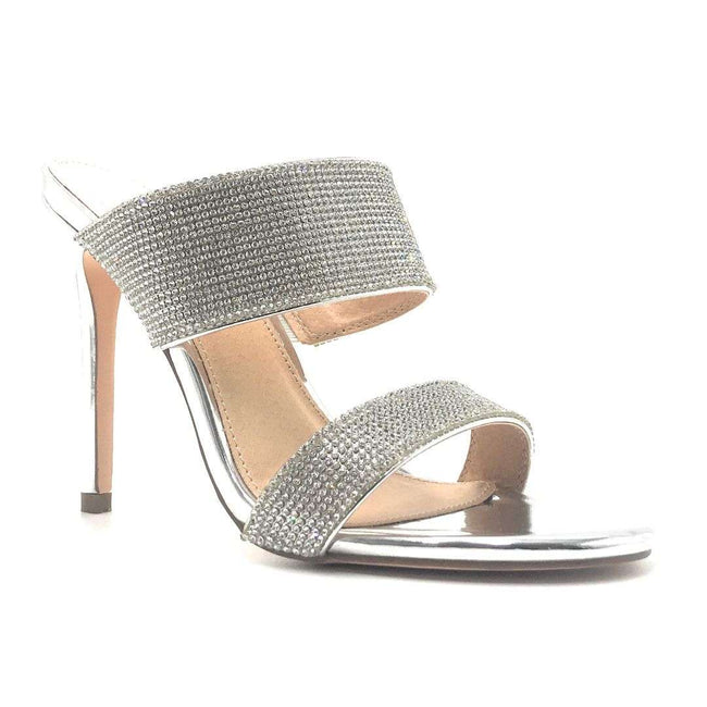 Olivia Jaymes Sally Silver Color Heels Shoes for Women